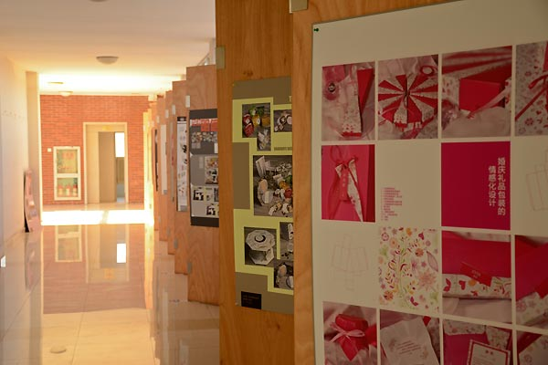 Students' works get frequently exhibited in the hall of the fourth floor, the building of School of Media and Design. – by Bi Zilin